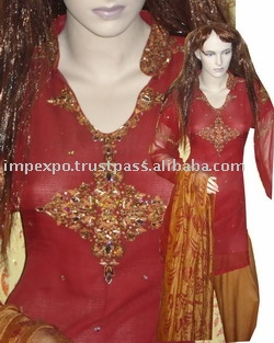 Ladies` Dress: Jarget Chafoon (Screen Print Shaal) (Ladies` Dress: Jarget Chafoon (Screen Print Shaal))