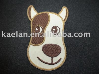 (71179)Dog Embroidered badge