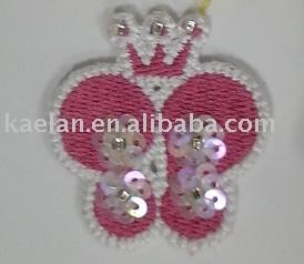 (75099)butterfly hand sew plastic crystal badge ((75099) Butterfly стороны шить пластиковый знак кристалла)