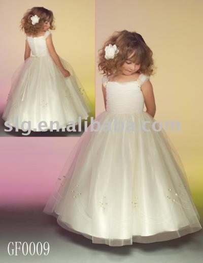 GF0009 flower girl dress (GF0009 цветок девочки платья)