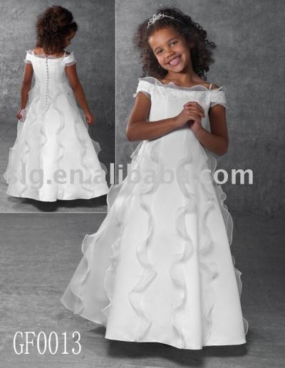 GF0013 flower girl dress (GF0013 платье девушке цветок)