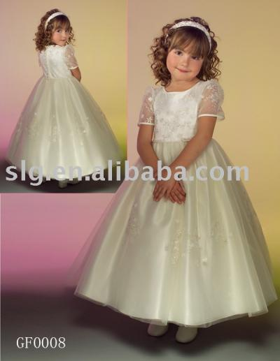 GF0008 flower girls dress (GF0008 цветок девочки платья)