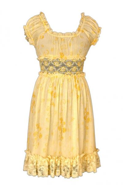 Chiffon Hand Printed Embroidered Dress (Шифон Рука Печатный вышитые платья)