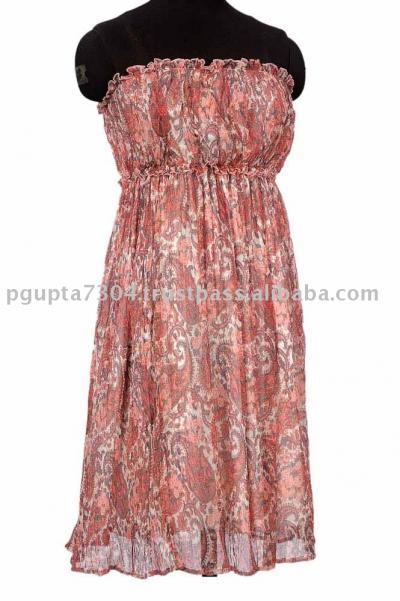 Silk Chiffon Busted Dress (Шелковый шифон Busted платье)