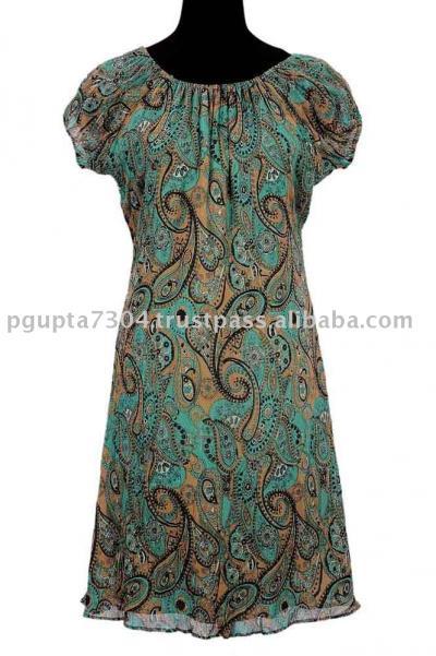 Chiffon Printed Dress (Шифон Печатный платье)