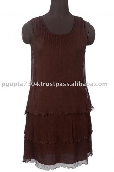 Georgette Sleeveless Dress (Жоржетта платье без рукавов)