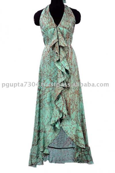 Satin Silk Tie Dye Dress (Атласные шелковым галстуком Краска платье)