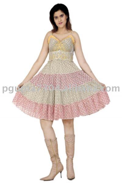 Cotton Printed Dress (Хлопок Печатный платье)