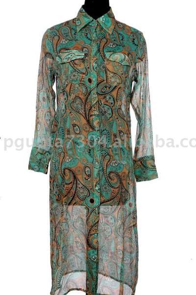 Chiffon Shirt Dress (Шифон Рубашка платье)