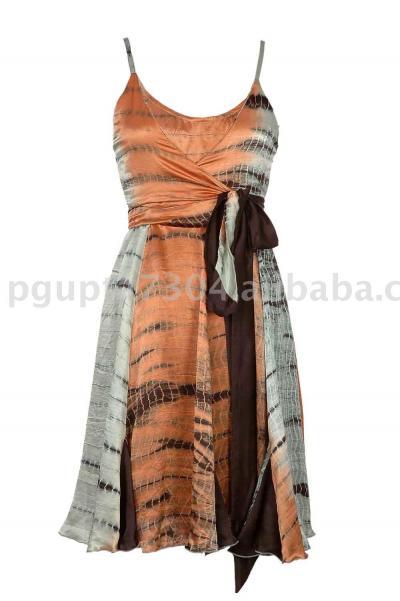 Silk Satin Wrap Dress (Шелковое платье атласные Wrap)