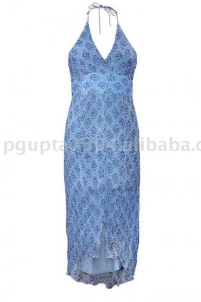 Hand Stamped Halter Dress (Рука штампованные Halter Dress)