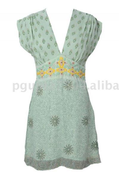 Printed Chiffon Dress (Печатный шифон платье)
