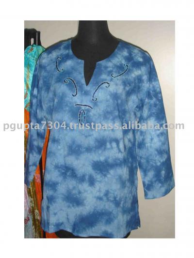 Cotton Tie Dye Kurti (Cotton Tie-Dye-Kurti)
