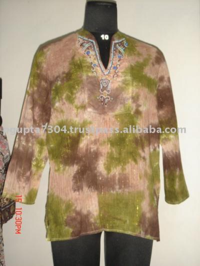 Cotton Tie Dye Kurtis (Cotton Tie-Dye-Kurtis)