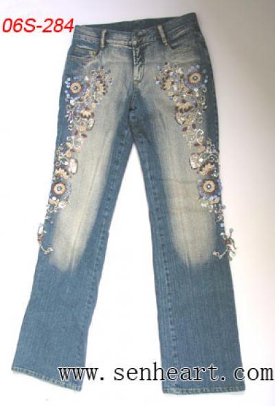 beaded jeans designer`s fashion (Beaded дизайнером джинсов мод)