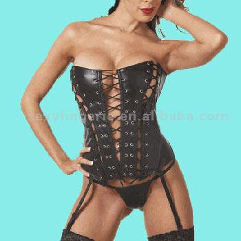 Leather Corset,Sexy Lingerie (Leather Corset,Sexy Lingerie)