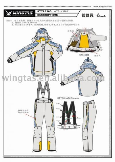ski jacket and pant WTS-Y1183 (Лыжная куртка и брюки WTS-Y1183)