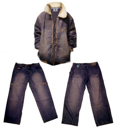 Denim Jacket With Fur Collar (Джинсовая куртка с меховой воротник)