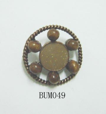 Unique Alloy Button With Enamel And Wooden Beads (Уникальный сплав кнопки с эмалью и деревянными бусинами)