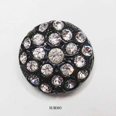 Black Alloy Button With Jewelry Stone (Черный кнопке с сплав украшения камень)