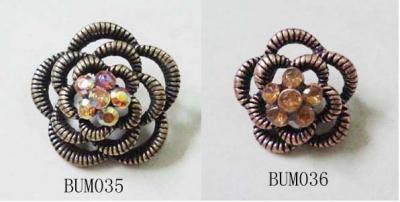 Alloy Button With Acrylic Stone (Сплав кнопки с акриловой камень)