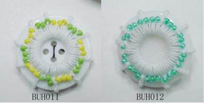 Crochet Button With Plastic Beads (Вязание крючком кнопки с пластиковыми бусами)