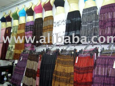 Women`s Thai Silk Long Skirt (Женская Тайский шелковый длинную юбку)