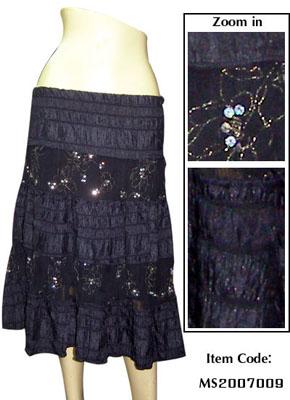 Women Medium Thai Silk Skirt Lace And Embroidery (Женщины среднего тайский шелковую юбку кружево и вышивка)