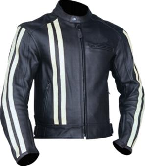 Leather Race Jacket - Jacket
