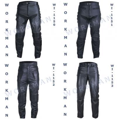 Motorbike Leather Trousers / Pants (Motorrad-Leder-Hose)