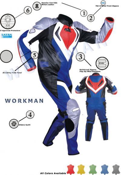 Motorbike Leather Racing Suit (Motorrad-Leder Rennanzug)