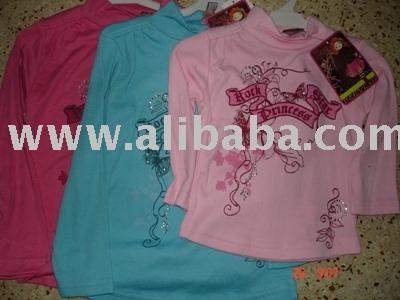 Kids Long Sleeve T-Shirt With Rhine Stone (Kinder Langarm T-Shirt mit Rhein Stone)