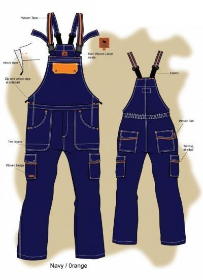 Bib %26 Brace-Workwear (Полукомбинезон 26% фигурные рабочая одежда)