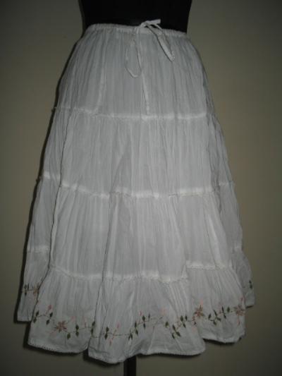 Cotton Embroidery Skirt (Хлопок Вышивка Юбка)