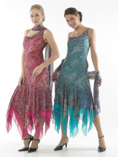 Дамы шелкового платья из бисера.  Запрос в компанию.  Фирма.