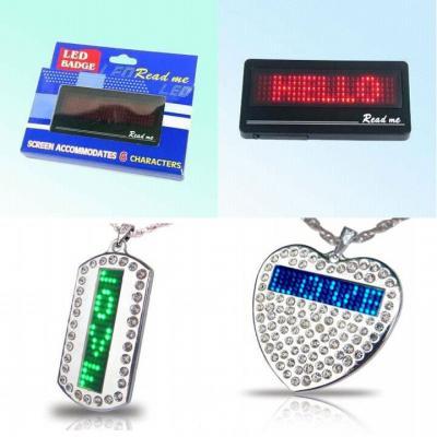 Scrolling LED Badge, Promotional Message Display (Прокрутка светодиодный знак, рекламное сообщение Дисплей)