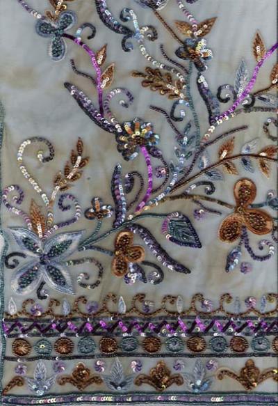 Embroidery Fabrics Beads %26 Sequin (Вышивка бисером ткани 26% Sequin)