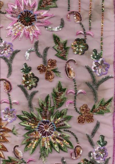 Индийские ткани и вышивки.  Кроме хлопка разные сорта шелка являются необходимой составной частью одежды.