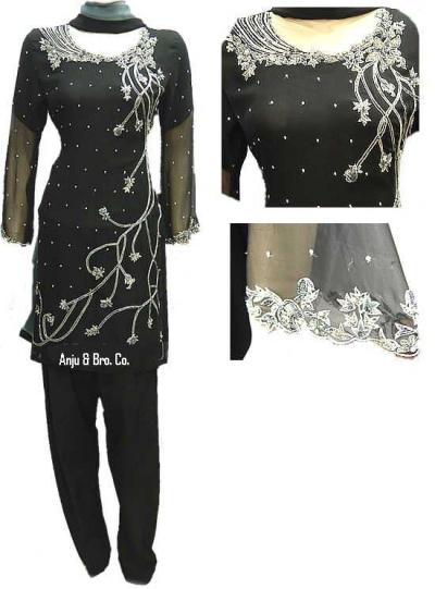 Black Chiffon Dress (Черного шифона платье)