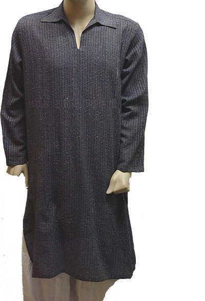 Navy Khaddar Dress (Флот кхаддар платье)