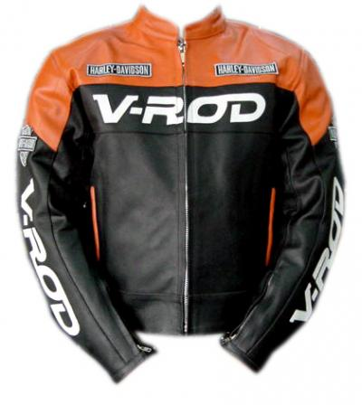 Men`s Harley Davidson V-Rod Motor Bike Leather Armor Jacket (Men`s Harley Davidson V-Rod Motor Bike Leather Armor Jacket)