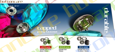 Capped Prong Fastener (CAP SNAP Button, Gripper, Dome SNAP, SNAP Button) (Plafonné Prong Fastener (SNAP CAP Button, Gripper, Dome SNAP, SNAP Button))