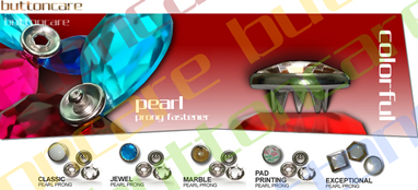 Pearl Prong Fastener (Pearl SNAP, SNAP Button, Gripper, Ring SNAP, Press SNAP) (Pearl Prong Fastener (Pearl SNAP, SNAP Button, Gripper, jonc, Presse SNAP))