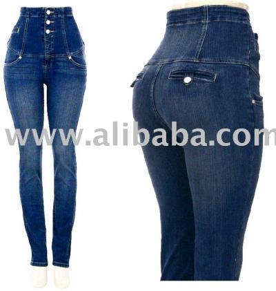 есть такие джинсы, что они реально с высокой талией)) ща такие модные).