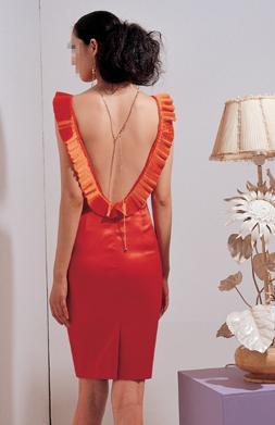 Deep Down Back Dress (D p Down Перейти платье)