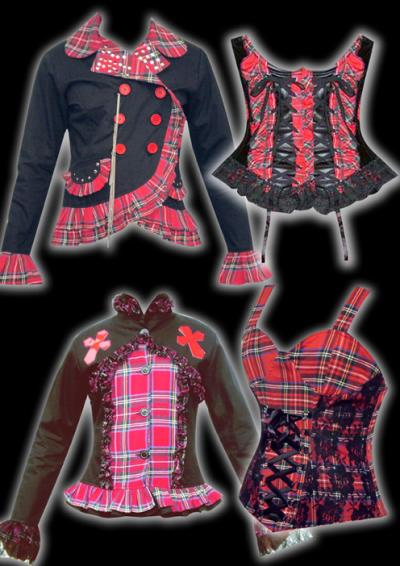 Tartan Clothing Garments Jacket Pant Blouse Skirts