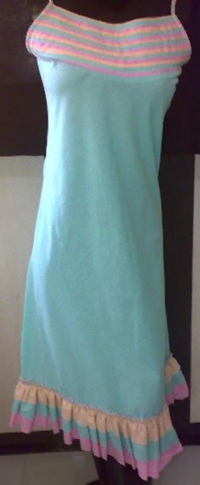 Cotton Plain Dyed Multi Colour Long Dress For Women`s (Хлопок Plain крашеный многоцветный Длинное платье для женщин `S)