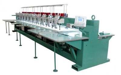 Multi-Head Embroidery Machine With Laser