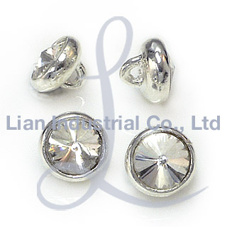 Metal shanked buttons with single stone in rivoli cut (Металл shanked кнопки с одним камнем в Rivoli Cut)