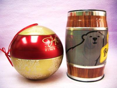 Christmas Ball Tin / Barrel tin / Chocolate Tin Box